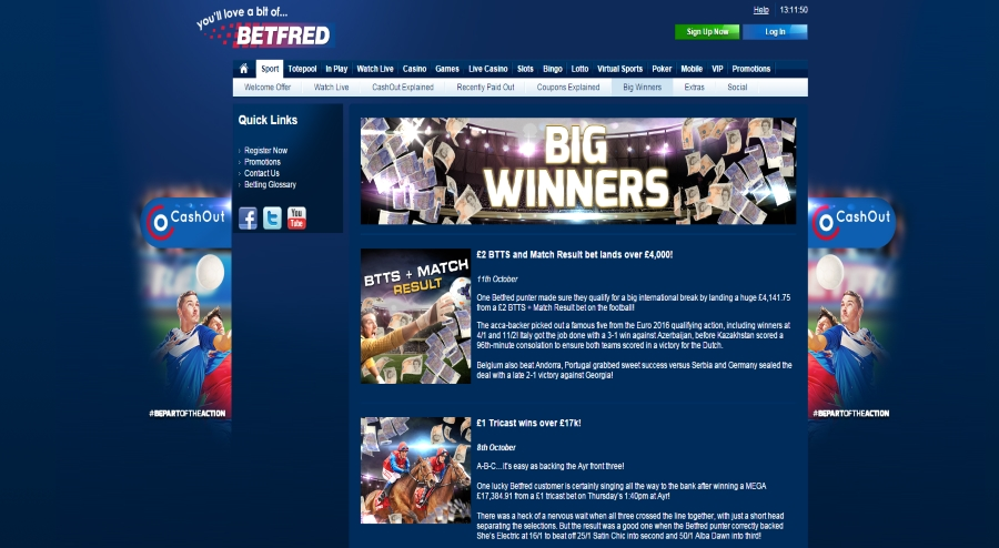 betfred winners
