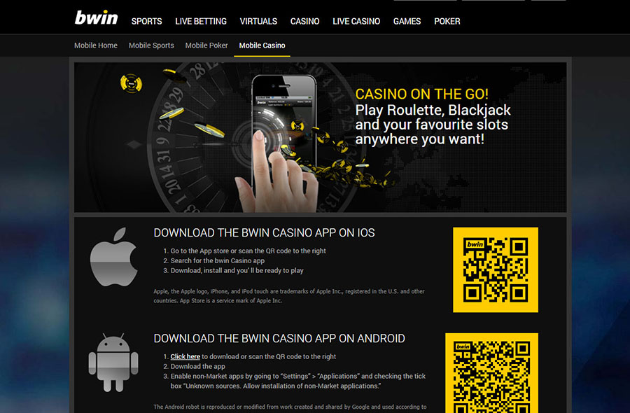 Bwin download casino software