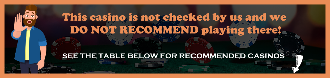 Not recommended casino site