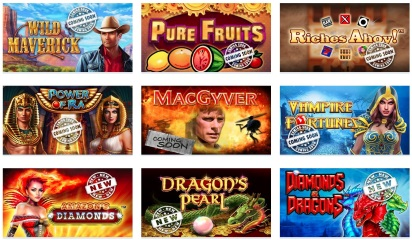 Novomatic are specialized in producing slot games